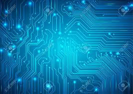 Technological Vector Background With A Circuit Board Texture Royalty