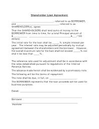 Doc564729 Simple Interest Loan Agreement Template Shareholder It