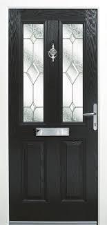 sterlingbuild black upvc obscure composite front door right hand opening 96 7x210cm sterlingbuild