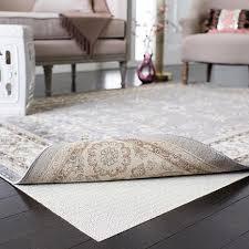 grid flat non slip rug pad 6 x 6 round