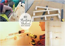 diy floating shelves are really easy to make and they are the perfect shelves to
