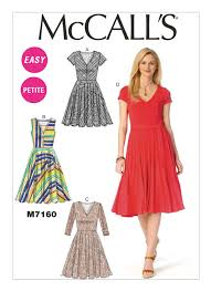 Mc Calls Patterns Interesting M48 Misses'Miss Petite VNeck Dresses and Belt Sewing Pattern