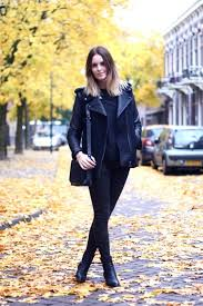 jacket jeans boots black bag