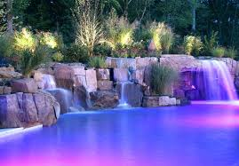 inground pools with waterfalls. Pool Waterfall Designs Backyard Fiber Optic Swimming New Inground Pools With Waterfalls L
