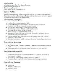 Cv Personal Profile Example Banking Template Buildingcontractor Co