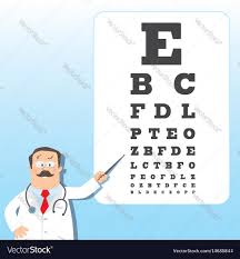 Doctor Chart Optician Doctor With Snellen Eye Chart Doctor