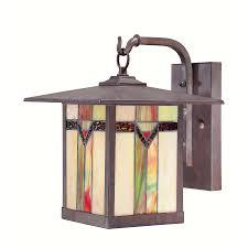 allen roth vistora 11 75 in h bronze outdoor wall light for the deck