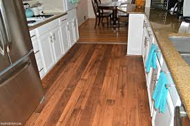 Hardwood Flooring In The Kitchen Inspired Wives White Kitchen With Wide Plank Hardwood Vinyl