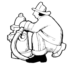 Small Picture Firefighter and fire hydrant coloring page Coloringcrewcom