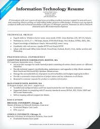 Information Technology Resume Noxdefense Com