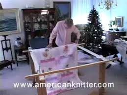 Tie Quilting How To Video 2 of 3 Attaching The Quilt to the frame ... & Tie Quilting How To Video 2 of 3 Attaching The Quilt to the frame from  Americanknitter.com - YouTube Adamdwight.com