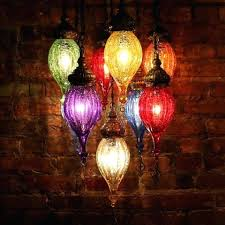 turkish mosaic lamp chandelier of color in blown glass and brass turkish mosaic hanging lamps uk