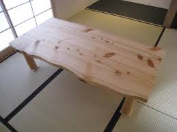 Cypress solid table (table)! Japanese cypress (Hinoki cypress) is a wooden
