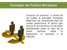 Resultado de imagen para política monetaria