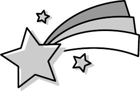 流れ星のイラスト白黒 無料フリーイラスト素材集frame Illust
