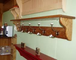 48 Coat Rack Coat Rack Wood Country Wall Shelf White 100 Wide Display 60