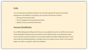 A Good Profile For A Resume 6 Resume Profile Example Happy Tots