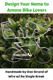 know some bike enthusiasts check out this unique bicycle wire art decor best customizable inspiration bicyclist gifts for dad mama friends boyfriend