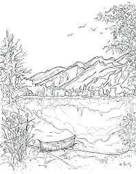 Coloring Pages Landscapes Mountains Carriembeckerme