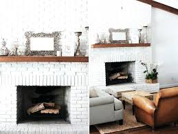 white mantel fireplaces white painted brick fireplace simple