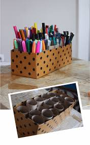 diy ideas with shoe boxes 10 minute marker caddy shoe box crafts and organizers