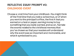 rsvp running start virtual project lesson the reflective  reflective essay prompt 3 childhood event