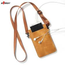 effelon pu leather universal cell phone bag shoulder pocket wallet pouch case neck strap for samsung iphone huawei oppo cell phones cell phone case
