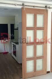 sliding door with top hung