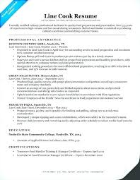 Resume For Cook Sample Resume For A Cook Chef Sample Resume Chef Job Amazing Line Cook Resume