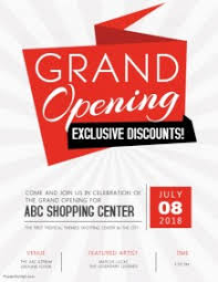 Free Grand Opening Flyer Template Customize 12 690 Small Business Flyer Templates Postermywall