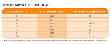 Youth Size Chart How To Find The Youth Equivalent Of Womens Shoe Sizes