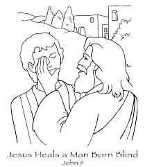 free coloring pages printable Jesus heals the blind man   jesus ...
