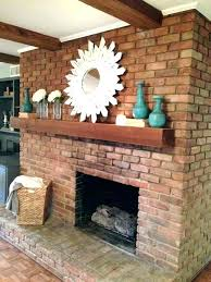 brick fireplace mantel decor ating white ideas