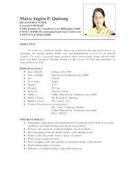 Brilliant Ideas Of Styles Nursing Resume Sample Philippines Image
