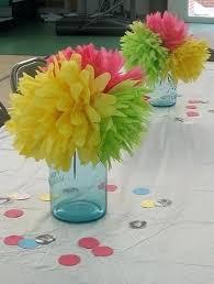 Paper Flower Centerpieces At Wedding Tissue Paper Flower Centerpiece Wedding Bastinformayor Com