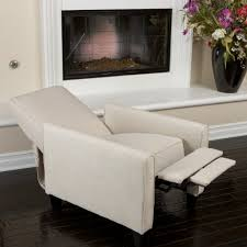 living room chairs for short people. lucas light beige fabric recliner club chair living room chairs for short people r