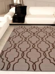 hand tufted wool 3 x5 area rug geometric beige brown k09014 getmyrugs com