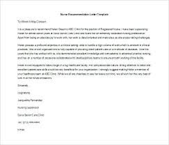 Nursing Letter Of Recommendation Nursing Recommendation Letter