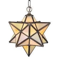 meyda tiffany moravian star mahogany bronze tinted glass star standard pendant