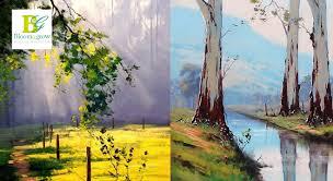 oil painting work beginner work in bangalore