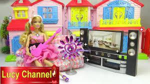 Đồ chơi Lucy Búp bê Barbie review phòng khách búp bê Toy story - YouTube
