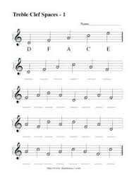 Treble Clef Music Store Lines And Spaces Worksheet Music Minute Treble Trouble Treble Clef