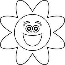 無料イラスト お天気 キャラクター 太陽 ぬりえ