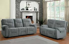 Reclining Living Room Furniture Sets Sofa Interesting Grey Reclining Sofa 2017 Design Fabric Recliner