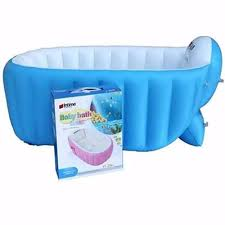 inflatable baby bath tub blue with free travel matetoiletry kit organizer color may