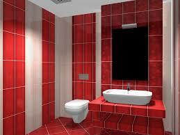 red bathroom floor tiles ideas