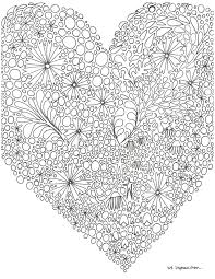 Coloring Page Free Printable Heart Coloring Pages For Kids Girl