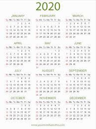 2020 Photo Calendar Template 2020 Calendars In Pdf Download Templates Of Calendar 2020