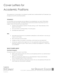 Cover Letter For Academic Position Academic Position Application Letter Templates At