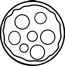 Small Picture Cheese Basic Pizza Coloring Page Wecoloringpage